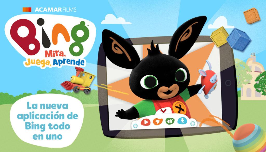 La popular serie para niños pequeños Bing lanza su app oficial Bing: Mira, Juega, Aprende