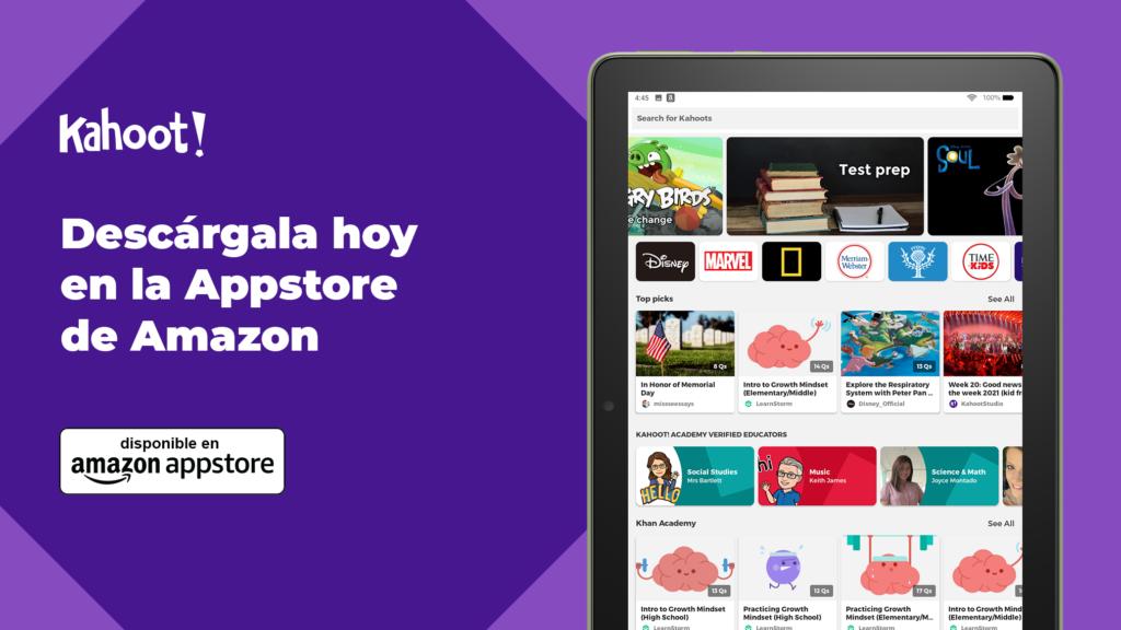Kahoot! aterriza en la Amazon Appstore
