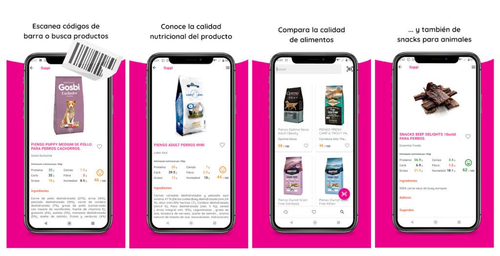Sappi, la app que lleva la información nutricional a la comida para mascotas