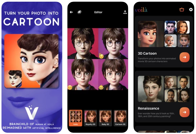 Voilá AI Artist transforma tu foto en un dibujo de Pixar o en un cuadro del Renacimiento