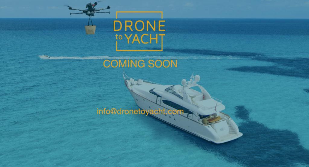 Drone to Yacht, un Glovo exclusivo y aéreo para que te lleven comida a tu yate