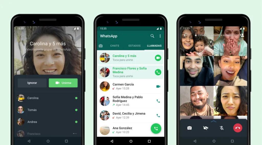 WhatsApp ya te permite unirte a una videollamada grupal en marcha