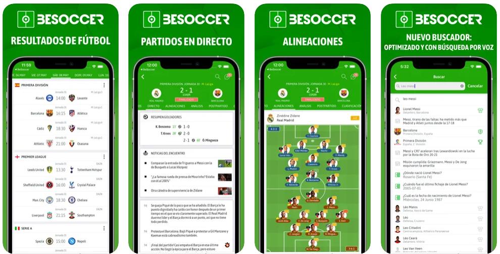 Las mejores apps para consultar los resultados deportivos