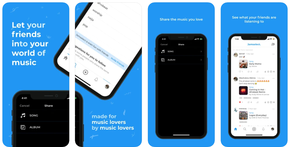 Jamselect, la app para saber qué música escuchan tus amigos en tiempo real