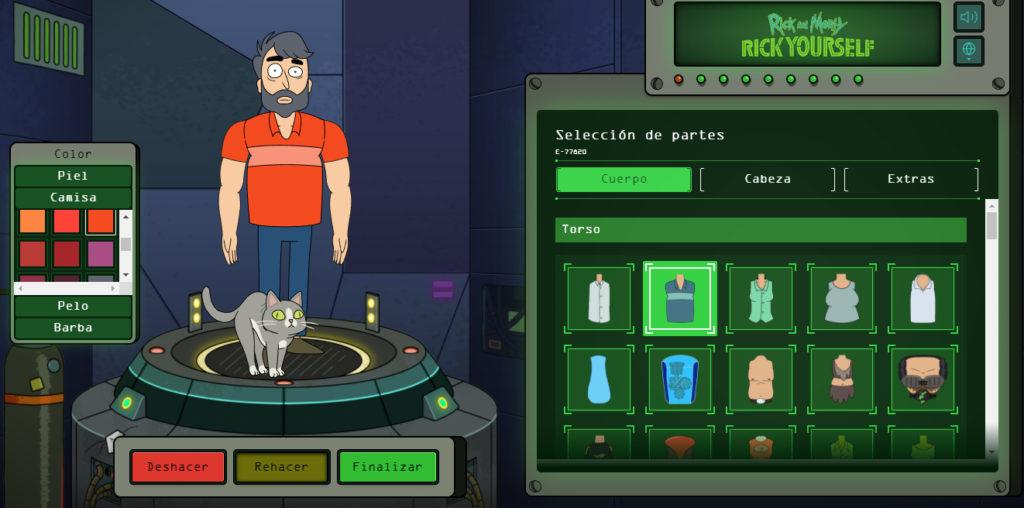 Esta app te ayuda a convertirte en un personaje de Rick & Morty