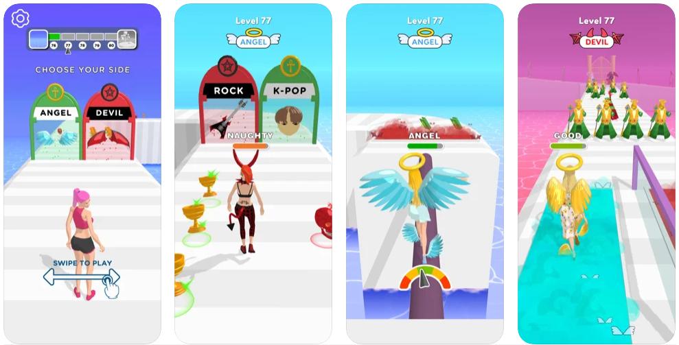 Destiny Run, el juego en el que eres ángel o demonio que triunfa en Google Play
