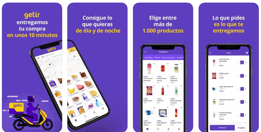 La app de entrega de la compra exprés Getir aterriza en España
