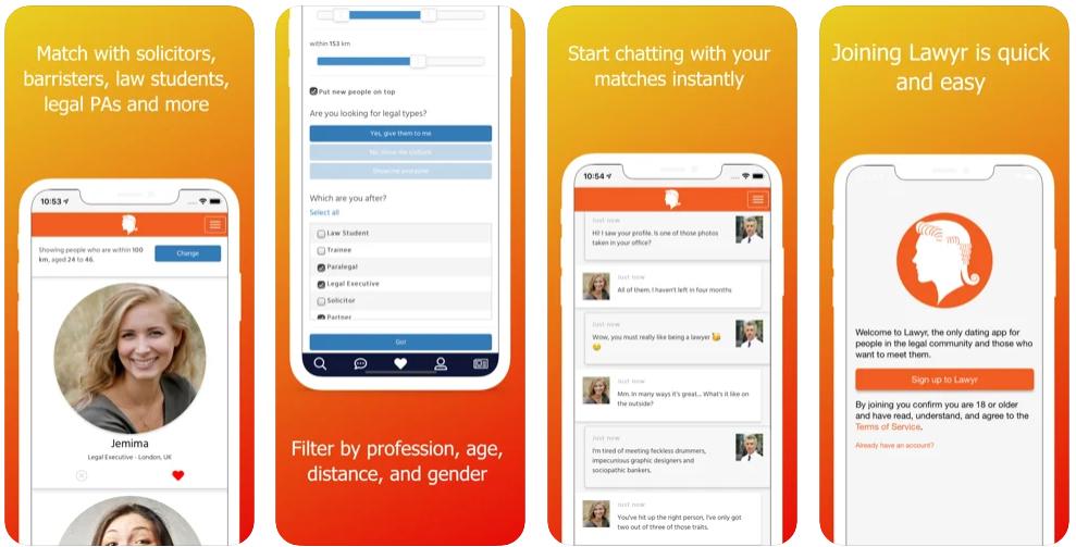 Lawyr, la app de citas para abogados que te hará perder el juicio