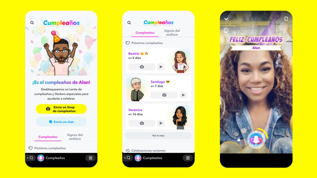 Snapchat anuncia una herramienta para recordar los cumpleaños
