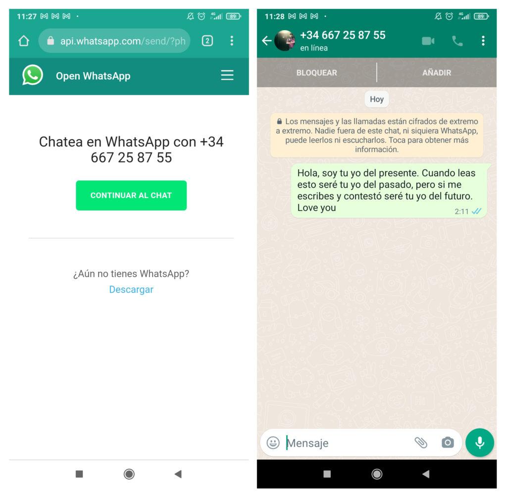 Cómo mandarte mensajes a ti mismo en WhatsApp