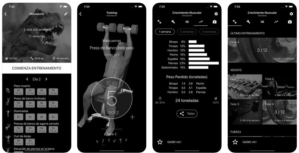 Las mejores apps para hacer pesas y practicar culturismo